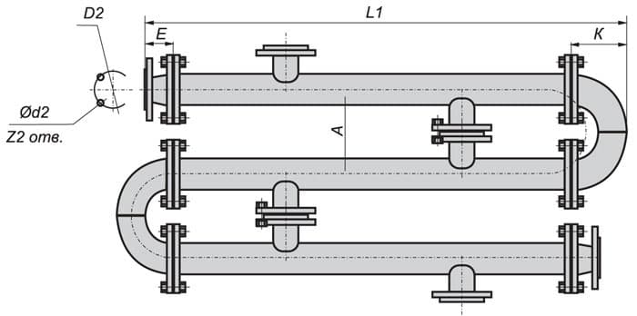 Водоводяной трубчатый теплообменник Полусварной теплообменник-конденсатор Alfa Laval MK15-BW FDR Сарапул